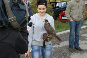 Юная сокольница из Перми дает интервью
