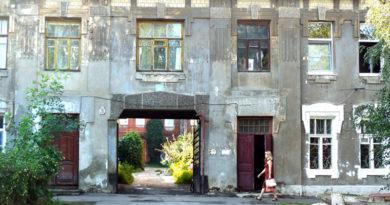 Дом в Тамбове на улице Бебеля, 28, где жила Т. А. Лебедева