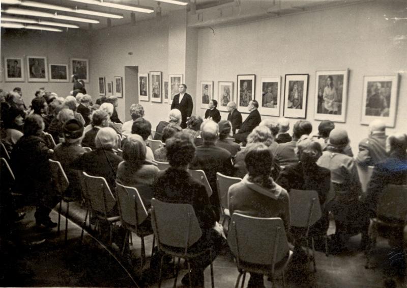 Творческий вечер художницы Т. А. Лебедевой. Выставочный зал МОСХ. Осень 1965 г.