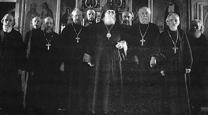 Архиепископ Лука со священством Тамбовской епархии