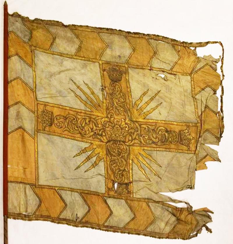 Знамя Смоленского стрелецкого приказа Вилима Лицкина. 1692 г. Хранится в трофейной коллекции Музея армии в Стокгольме