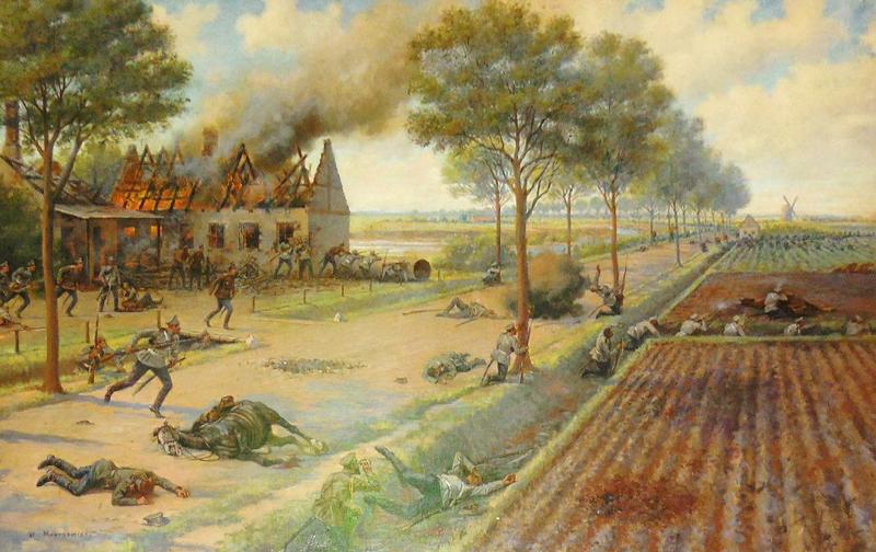 Эпизод боестолкновения за усадьбу в Восточной Пруссии. Сентябрь 1914 г.