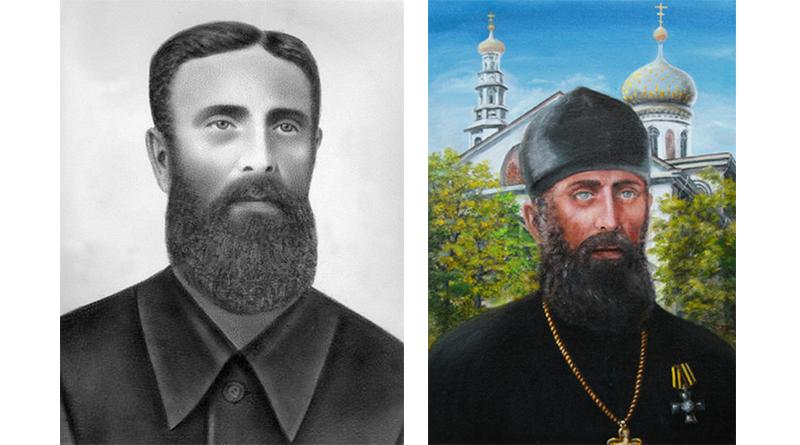 Фотография отца Филофея (Филиппа Антипычева) и портрет, написанный в последние годы