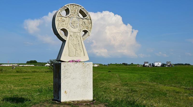 Памятный крест на городище Старая Рязань